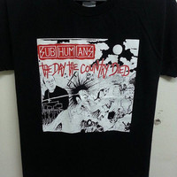 Sale Rare SUBHUMANS The Day the Country Died Tour Concert T shirts Saiz L(youth)