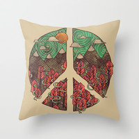 Peaceful Landscape Throw Pillow by Hector Mansilla