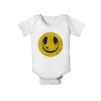 EDM Smiley Face Baby Romper Bodysuit by TooLoud