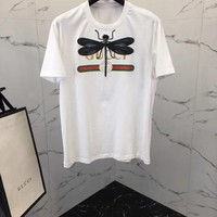 NEW 100% Authentic  gucci 2018ss dragonfly t shirt 20