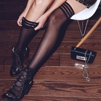 Free People Sporty Sheer Thigh High