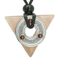 Amulet Celtic Triquetra Knot Trinity Magic Powers Triangle Love Energies Rose Qu