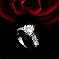 H&A 1CT Platinum Woman ring - Female ring - Wedding Ring - promise ring - wedding band - Her Promise Ring - Engagement Ring - the ring woman