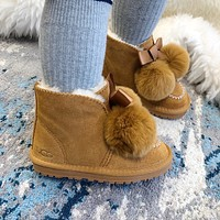UGG Elastic ball children's snow boots