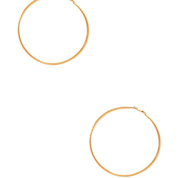 FOREVER 21 Disco Doll Hoops Gold One