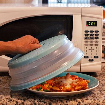 Collapsible Microwave Splatter Shield