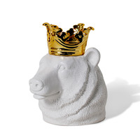 Crowned Bear Head Container | HOTTT.COM