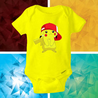 Pokemon Pikachu baby shirt Onesuit - Pokemon Pikachu Onesuit cute - baby Onesuit - Kitty Onesuit - Baby Clothing -