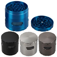 4 Colors Herb Grinder with Window