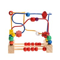 Baby Toy Wooden Toy Wooden Bead Maze Child Beads Wooden Toys Educational Toys for Children Birthday Gift