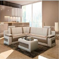 Modern Luxurious Leather Sectional Sofa Set