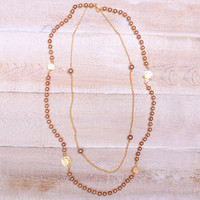 Bronzed Pearl Necklace