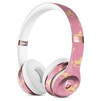 Micro Golden Pony Over Pink Full-Body Skin Kit for the Beats by Dre Solo 3 Wireless Headphones