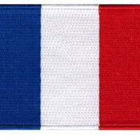 France Flag Embroidered Patch French Iron-On National Emblem