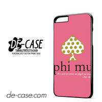 Kate Spade Phi Mu DEAL-6098 Apple Phonecase Cover For Iphone 6/ 6S Plus