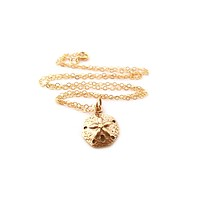 Sanddollar Charm Necklace - 14k Gold Fill Necklace - Simple Jewelry - Dainty Necklace - Gold Fill Jewelry - Beach Necklace - Gift for Her