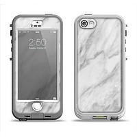 The White Marble Surface Apple iPhone 5-5s LifeProof Nuud Case Skin Set