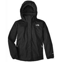 The North Face Girls Resolve Rain Jacket (Medium, Black)