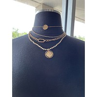 Golden Goddess Necklace-4 Layers-Jewelry