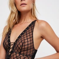 Free People Nikki Lace Up Bodysuit
