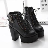 ca ICIKTM4 Hot Deal On Sale Club Shoes Winter Stylish Sexy High Heel Waterproof Boots [11144747271]