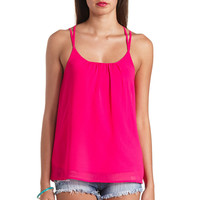 STRAPPY CAGED BACK SWING TANK TOP