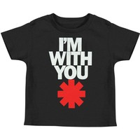 Red Hot Chili Peppers Boys' IWY Asteric Childrens T-shirt Black