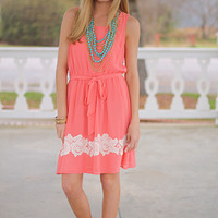 Enjoy The Roses Dress, Coral