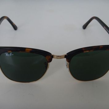 Cheap Ray Ban Clubmaster Sunglasses 3016 W0366 Tortoise Green Lens 51 mm outlet
