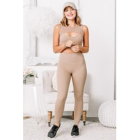Getting With It High Waisted Leggings | Nude
