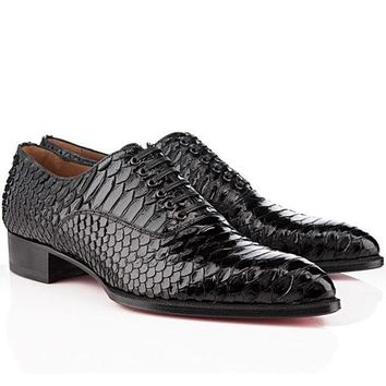 CL Christian Louboutin Men's shoes Fashion Boots fashionable casual leather shoes