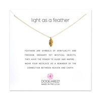 Dogeared | Gold Light as a Feather Necklace