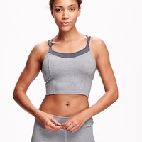 Go-Dry Light Support Crop Top Sports Bra for Women | Old Navy