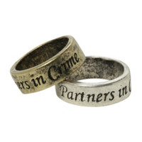 LOVEsick Partners In Crime Ring Set