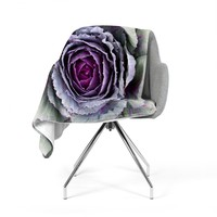 "Susan Sanders ""Flower Love"" Purple Green Fleece Throw Blanket"
