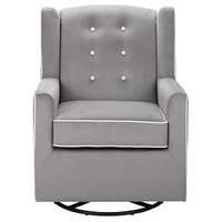 Emmett Button Tufted Swivel Glider - Graphite Gray - Baby Relax : Target