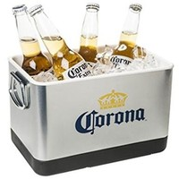 Corona Beer & Ice Bucket - Stainless Steel