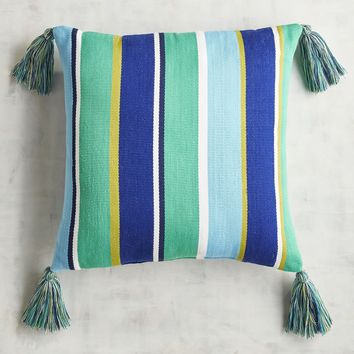 Cool Stripe Tassel Square Pillow