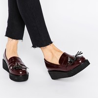ASOS OUTRIGHT Flatform Loafers at asos.com