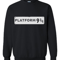 Brand New Platform 9 3/4 Printed Unisex Crew Neck,Inspired From Harry Potter Movie Sweatshirt, Jumper