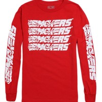 Hall of Fame Smokers Long Sleeve T-Shirt - Mens Tee - Red