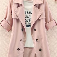 Double Lines Button Jacket for Women OLB766 from topsales