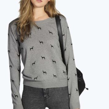 Jenny Printed Knitted Jumper