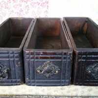 """Antique Sewing Table Drawers,Rustic Centerpieces,Display Boxes 14.5"""" Length"""