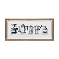 Coffee I Wall Decor in White and Brown