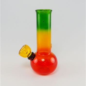 "5"" Rasta Color Glass Water Pipe"