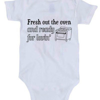 Fresh Out The Oven And Ready For Lovin' Baby Onesuit