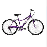 "26"" Women Purple Aluminum Bike Full Suspension New 7 Speed Shimano Linear Brake"