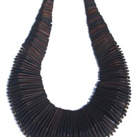 Overdyed Horn Collar Necklace
