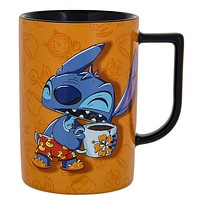 Disney Parks Stitch I Don't Do Mornings Coffee Ceramic Mug New